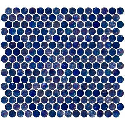 0.75 x 0.75 Glass Mosaic Tile in High-Gloss Blue