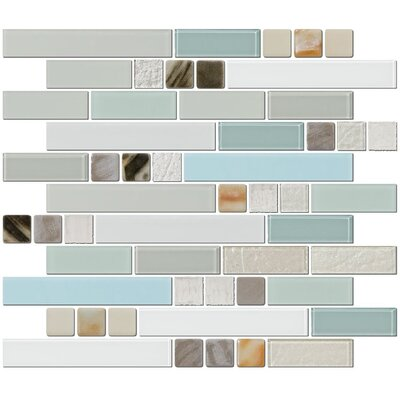 Signature Line Himalayan Beauty Series 3 Glass Mosaic Tile in Gray/Blue