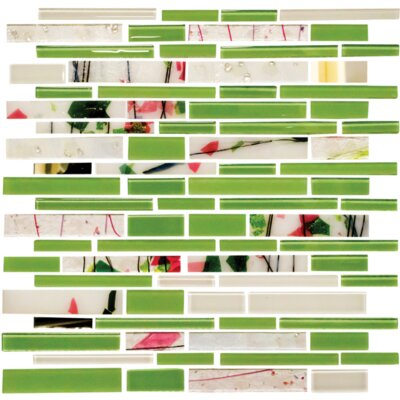 Signature Line Glass Mosaic Tile in Green