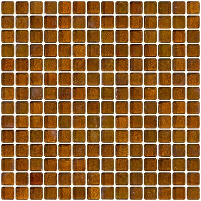Iridescent 0.75 x 0.75 Glass Mosaic Tile in Brown