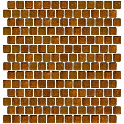 Iridescent Offset 0.75 x 0.75 Glass Mosaic Tile in Brown