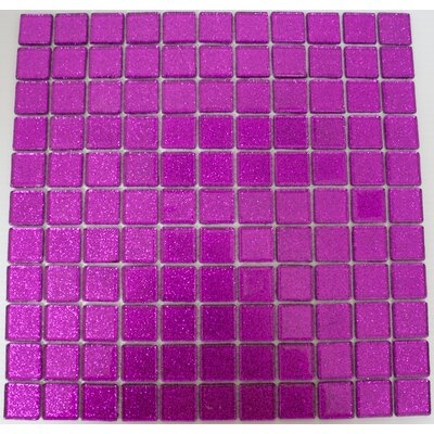 1 x 1 Glass Mosaic Tile in Purple Violet