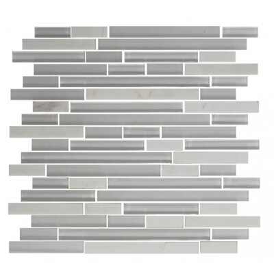 Carrera Random Sized Glass Mosaic Tile in White