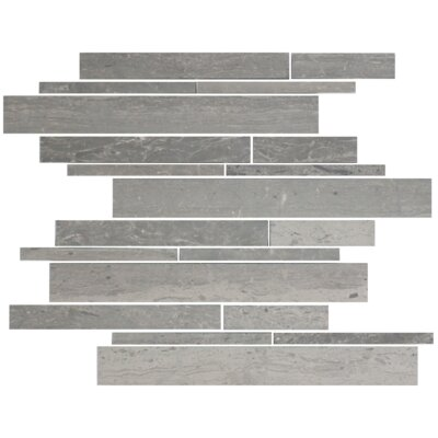 Mountain Random Sized Slate Mosaic Tile in Blue/Gray