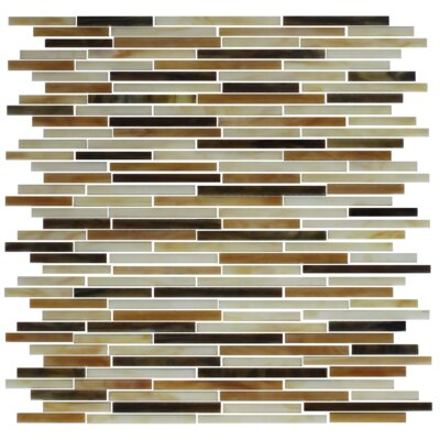 STIX Stained Random Sized Glass Mosaic Tile in Brown/Tan