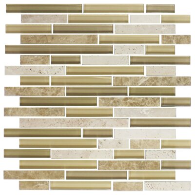 Sandstorm Random Sized Marble/Glass Mosaic Tile in Tan