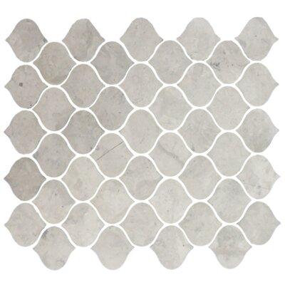 Teardrop Random Sized Marble Mosaic Tile in Gray