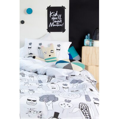 Green Mob Twin Reversible Duvet Cover