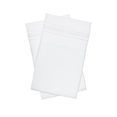 Holsworthy Deep Sleep Premier 1800 Thread Count Pillow Case Size: Standard/Queen, Color: White