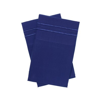 Holsworthy Deep Sleep Premier 1800 Thread Count Pillow Case Size: King, Color: Twilight Blue