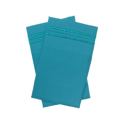 Holsworthy Deep Sleep Premier 1800 Thread Count Pillow Case Color: Teal, Size: King