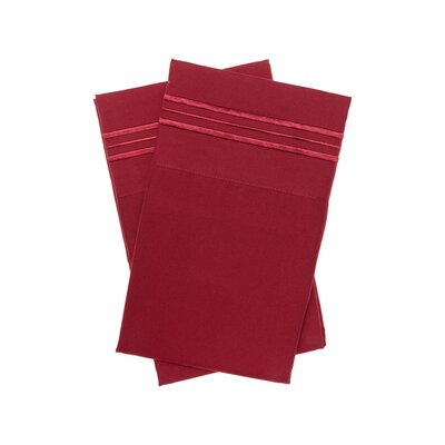 Holsworthy Deep Sleep Premier 1800 Thread Count Pillow Case Color: Burgundy, Size: King