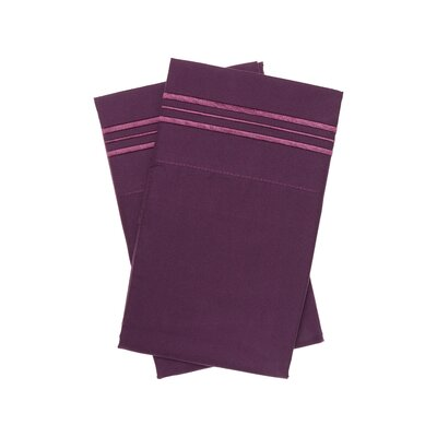Holsworthy Deep Sleep Premier 1800 Thread Count Pillow Case Size: King, Color: Italian Plum