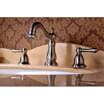 Apogee Widespread Bathroom Faucet Double Handle Finish: Brushed Nickel