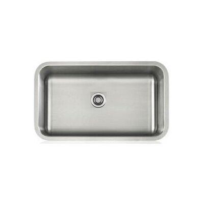 Apogee 30.13 x 17.88 Stainless Steel Single Bowl Undermount Kitchen Sink