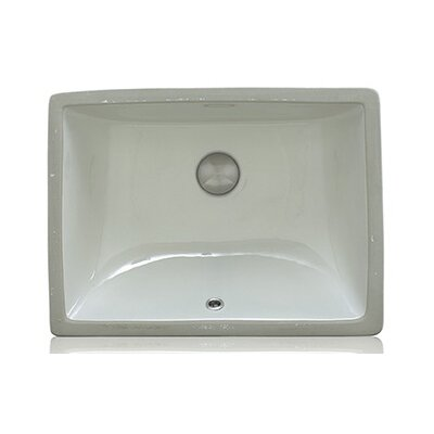 Apogee Vitreous China Oval Undermount Bathroom Sink with Overflow Sink Finish: Bisque