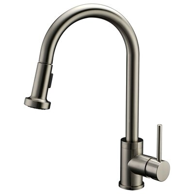 Apogee Single Handle Pull Down Kitchen Faucet with Spray/Stream Finish: Brushed Nickel