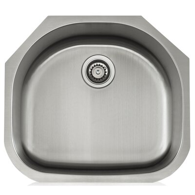Apogee 23.25 x 9 Stainless Steel Single Bowl Undermount Kitchen Sink