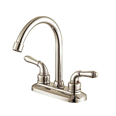 Apogee Centerset Bathroom Faucet Double Handle Finish: Brushed Nickel