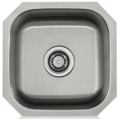 Apogee 16 x 8 Stainless Steel Single Bowl Undermount Kitchen Sink