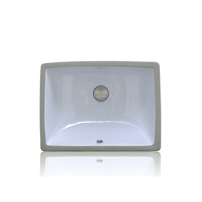 Apogee Vitreous China Oval Undermount Bathroom Sink with Overflow Sink Finish: White