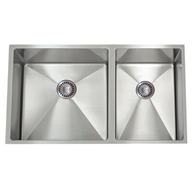 30 x 10 PermaClean Undermount Double Bowl Kitchen Sink