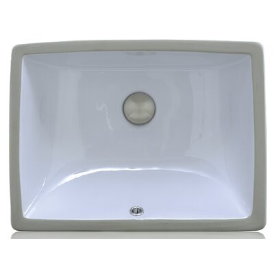 Porcelain Rectangular Undermount Bathroom Sink with Overflow Sink Finish: White