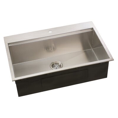 Ledge Series 31 x 10 Undermount or Topmount Kitchen Sink