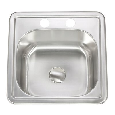 Apogee 15 x 6 Stainless Steel Topmount Kitchen Sink