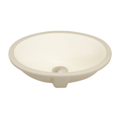 Apogee Vitreous China Oval Undermount Bathroom Sink Sink Finish: Bisque