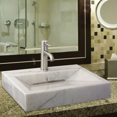 Apogee Single Top Lever Bathroom Faucet Single Handle Finish: Brushed Nickel