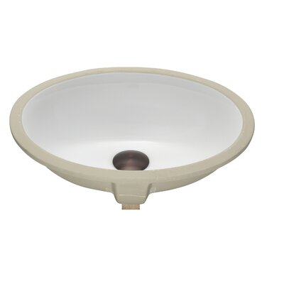 Apogee Vitreous China Oval Undermount Bathroom Sink Sink Finish: White