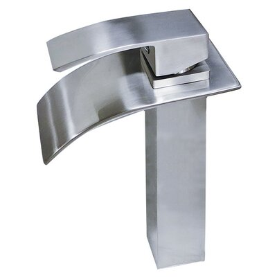 Apogee Tall Top Lever Square Vessel Faucet Finish: Brushed Nickel