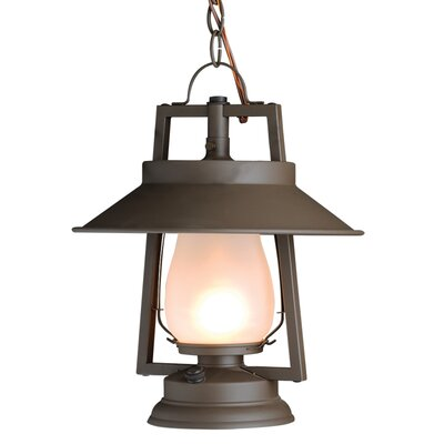 49er Series 1-Light Kitchen Foyer Pendant Finish: Natural Rust, Shade: Clear