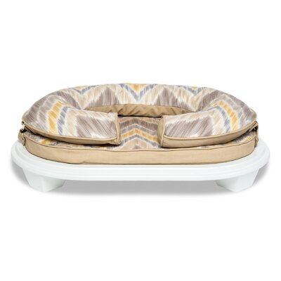 Chloe Pet Bed with Frame Size: Small (15 L x 8 W), Color: Graystone