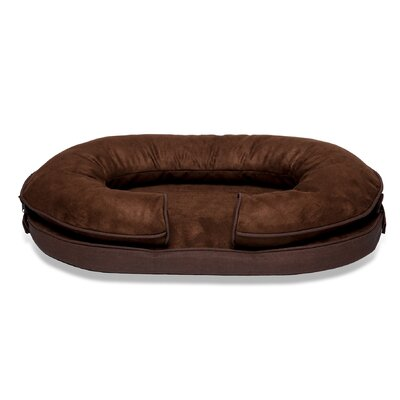 Charlie Suede Pet Bed Size: Large (28 L x 18 W)