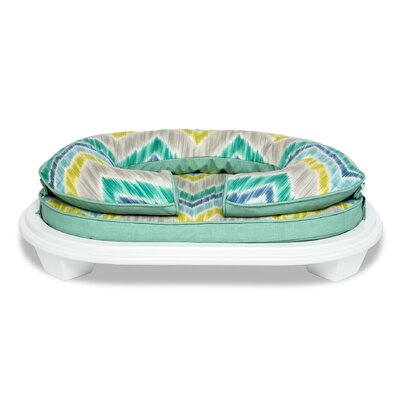 Chloe Pet Bed with Frame Size: Large (28 L x 18 W), Color: Seaglass