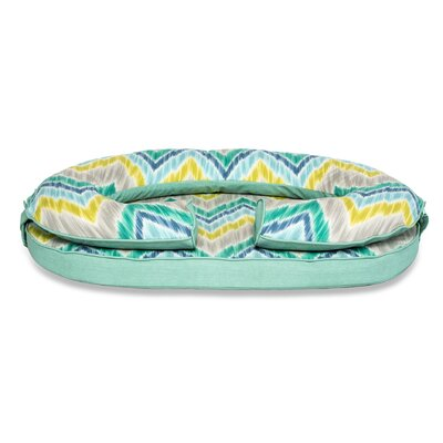 Marybelle Pet Bed Size: Medium (19 L x 10 W), Color: Seaglass