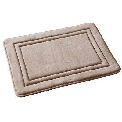 Ultra Plush Memory Foam Bath Rug Color: Camel
