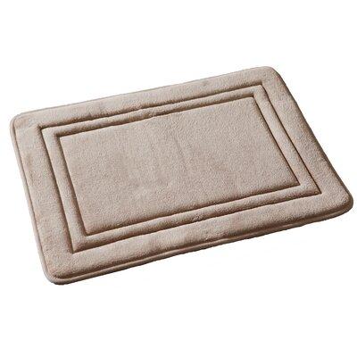 Ultra Plush Memory Foam Bath Rug Color: Camel
