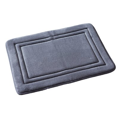 Ultra Plush Memory Foam Bath Rug Color: Gray
