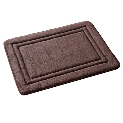 Ultra Plush Memory Foam Bath Rug Color: Chocolate