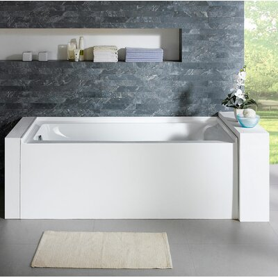 Delano 59.8 x 32 Soaking Bathtub Drain Location: Left