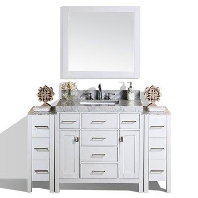 Laub 41 Single Modern Bathroom Vanity with Mirror Base Finish: White
