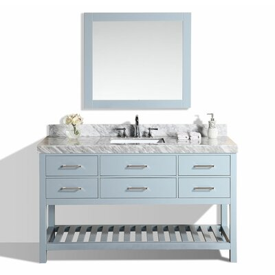 Laguna 61 Single Modern Bathroom Vanity with Mirror Base Finish: Gray