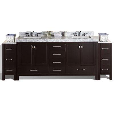 Malibu 61 Double Modern Bathroom Vanity Set Base Finish: Espresso