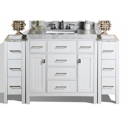 Malibu 41 Single Modern Bathroom Vanity Set Base Finish: White