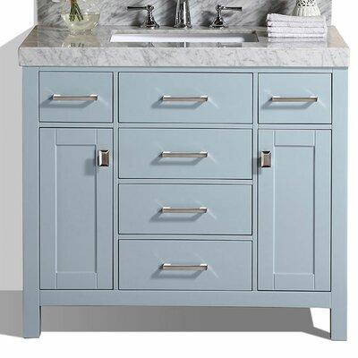 Malibu 41 Single Modern Bathroom Vanity Set Base Finish: Gray