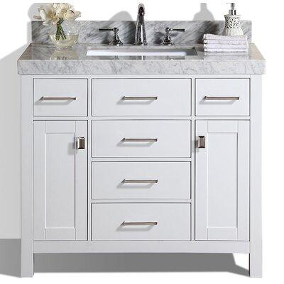 Laub 41 Single Modern Bathroom Vanity Set Base Finish: White