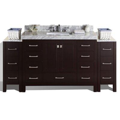 Malibu 61 Single Modern Bathroom Vanity Set Base Finish: Espresso
